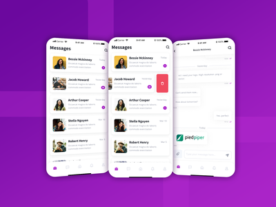 Simple, Reliable & Secure Messaging application! firebase reactnative react native design ui designs uidesign b2c b2b mobile app design mobileappdesign mobile app marketplace freelancer datingapp chatting chat app