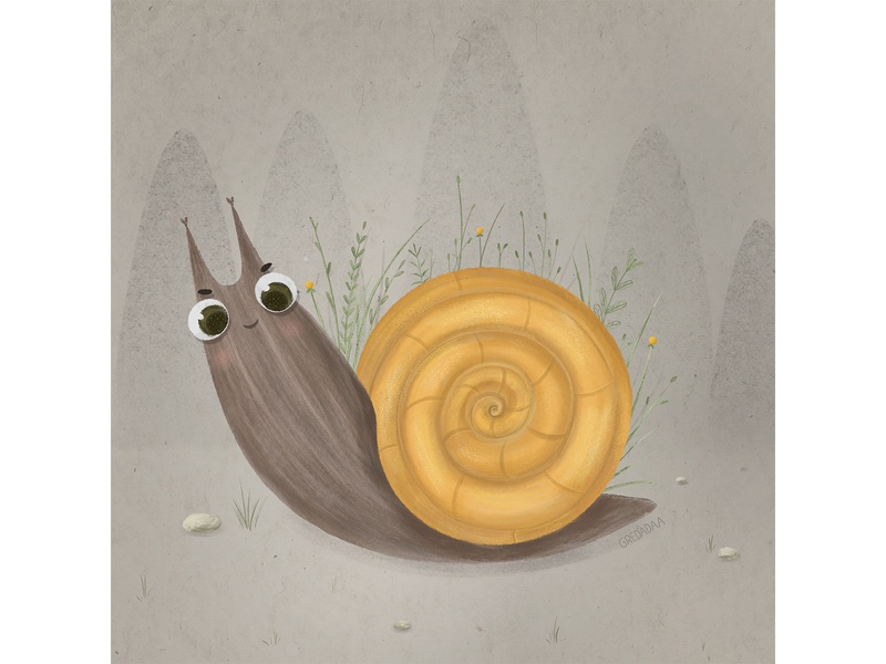 Cute smiling snail smile snail design draw cute art cute art artist artwork drawing illustrator illustration