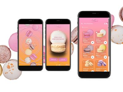 Macaron's App Design xd animation xd design photoshop animation ios ios app design branding website design uiuxdesign prototype design app design app design uxdesign uiux uidesign