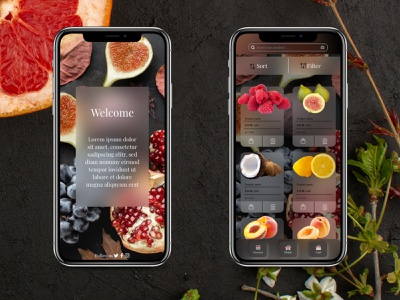 UI UX Design grocery app grocery fruits and vegetables online fruits ux deisgn design app adobexd animation aftereffects app design xd design design uiux prototype uidesign