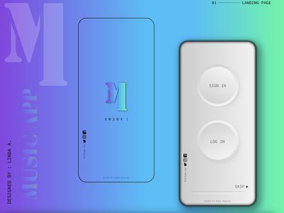 UI Mobile App - Landing Page productdesign design app animation illustration aftereffects app design design xd design uiux prototype uidesign