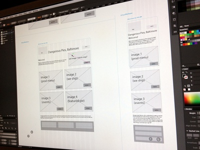 Quick Wireframe for home page wireframe planning