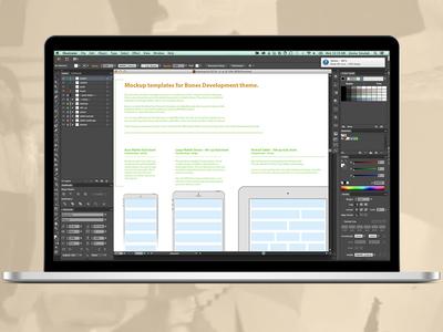 Bones Grid wordpress templates mockup