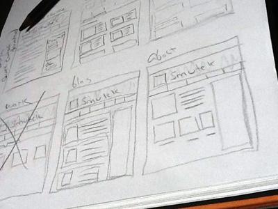 My new website sketch layout web design