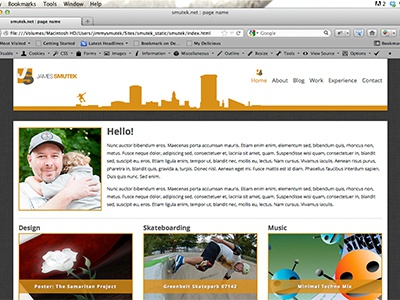 Home Overview web design layout static