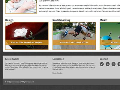 Footer Blocks web design layout static