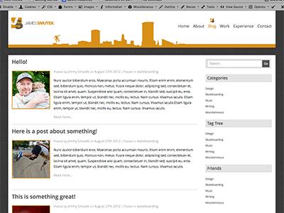 Blog Page web design layout static