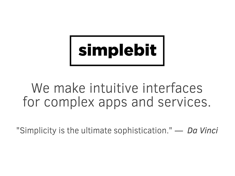 Simple Bit Header interface ui ux apps logo tagline gotham clear sans simple