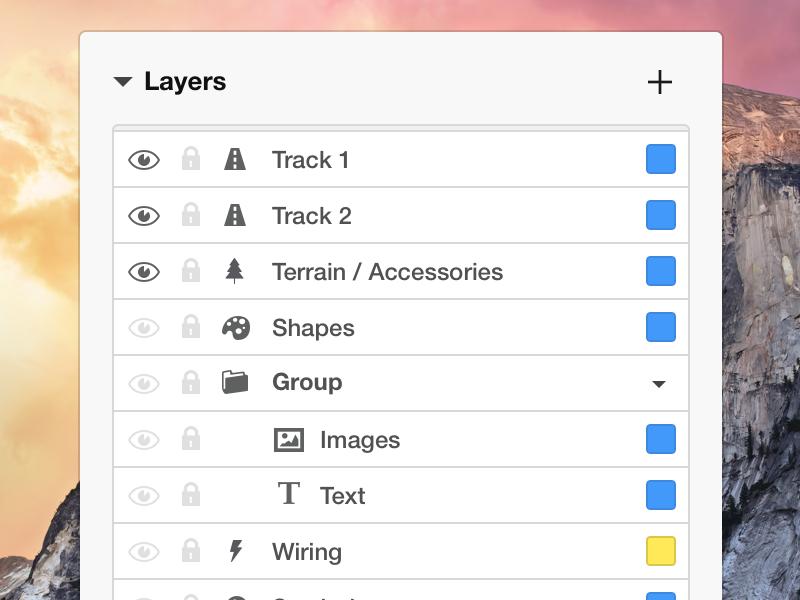 Layers Panel ui os x yosemite app ux