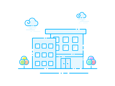 Buildings  life ui buildings illustration icon