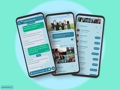 LetsTalk app - pt.5 iamshour letstalk group chat group chat chatting app messaging app designer design ui design ui mobile ui mobile app