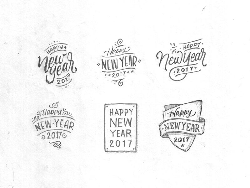 Happy New Year 2017 by Arwan Sutanto - Dribbble