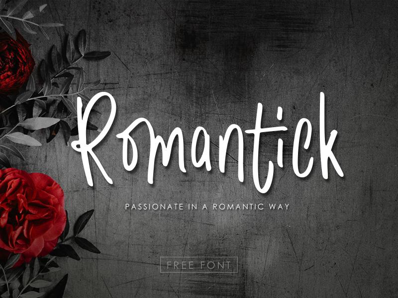 Romantick Font handwriting font handwriten free font font font design typography
