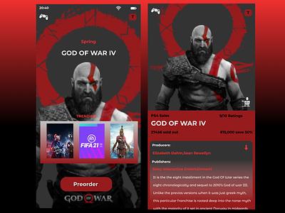 special offer God Of War demo app design ui