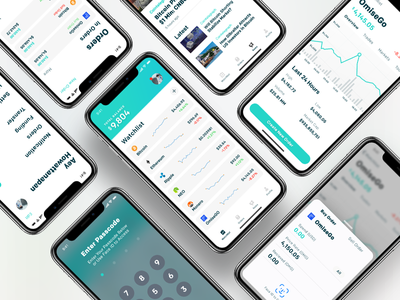 CalmCoin ux ui trading iphonex ico graph cryptocurrency bitcoin