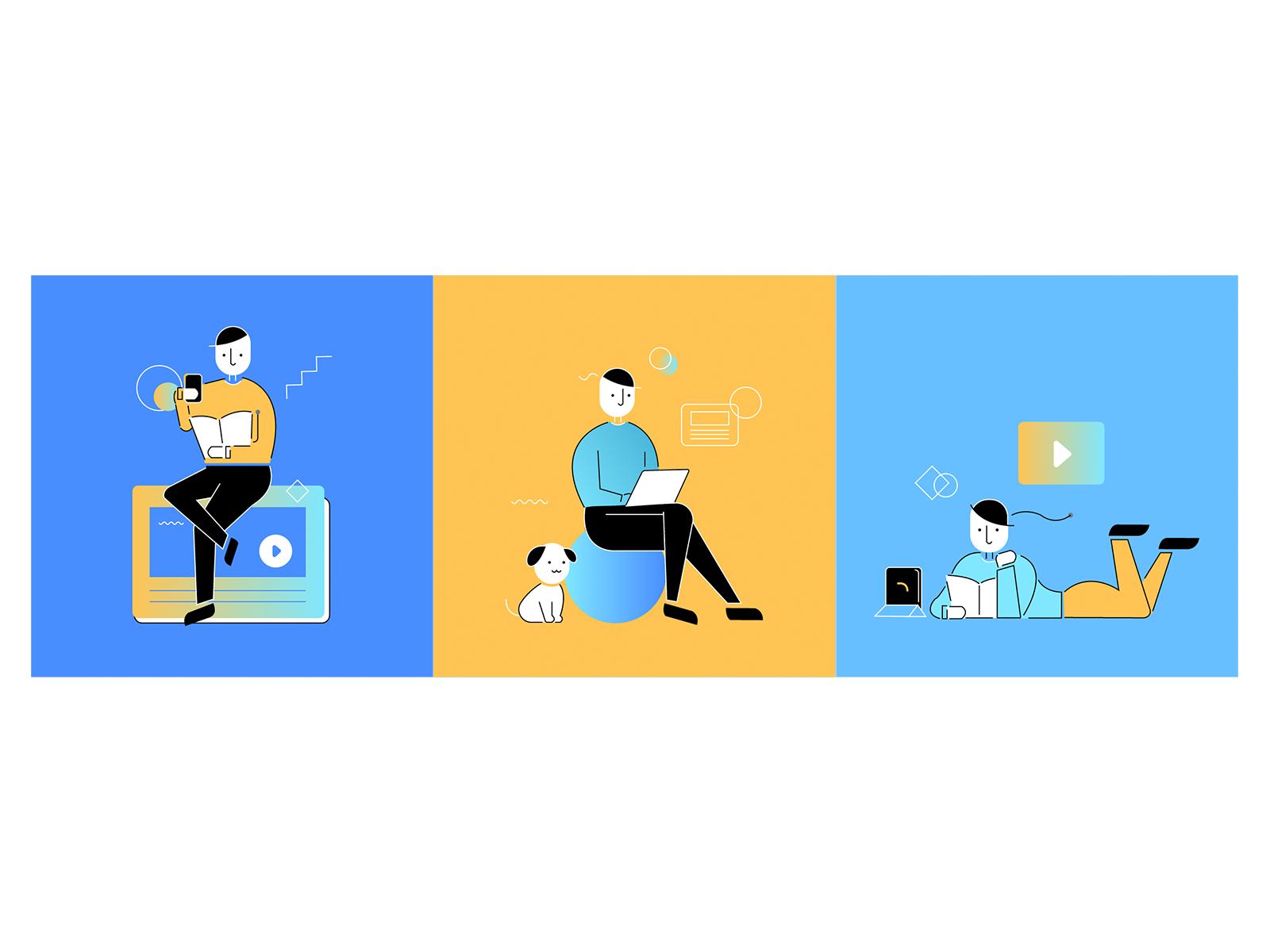 Learn Anywhere Illustration by Ekkrit Foonngern for Skooldio on ...