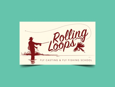 Rolling Loops Fly Casting & Fly Fishing School smallbusiness fisherman fishing outdoors branding design