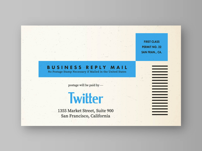 Twitter Mail-in Subscription Card