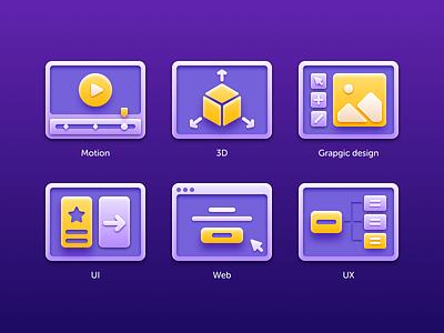 Design Expertise iconography dribbble design exercise icon web icon ux icon ui icon motion web ux ui graphic design 3d motion icons pack icons design icons