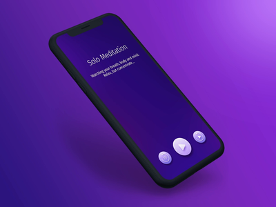 Meditation app: sound animation cinema4d dark ui meditation motion graphics motion design after effect mockup template mockup design 3d animation dribbble best shot meditation ui ui design ambient soundwave ai sound design meditation app dribbbler dribbble