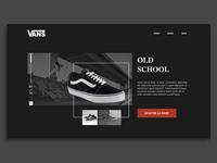 Vans - Concept Landing interface web landing design ui