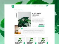 Product page - Plant uidesign webdesign product page product web design ui