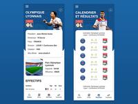 Interface club de foot football interface france mobile ui design
