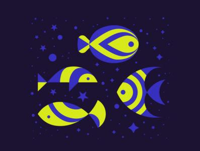 Best fish pond graphic design illustration fish vector logo design logo illustration design