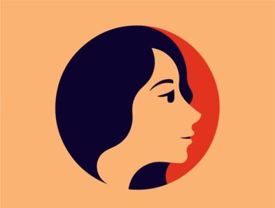 Beautiful woman face vector illustration typography drawing logodesign branding logo design logo illustration illustrator