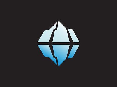 Antarctic Travels iceberg adventure travel antarctica blue black branding illustration vector icon design logo