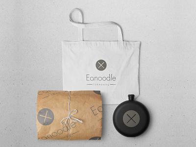Eanoodle - Slurp Bar restaurant brand noodles logo