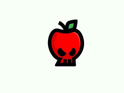 Inktober Day 07 Enchanted illustration vector logo design icon red skull apple enchanted inktober2019 inktober