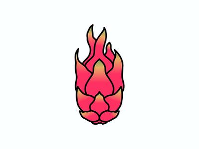 Inktober Day 12 Dragon illustration fruit dragon vector design logo icon inktober2019 inktober