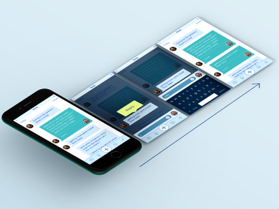 Repli Messaging App mobile messaging text ux ui visual design design
