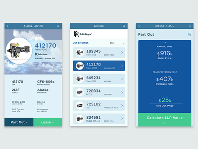 AirTrack dashboard ux ui product design visual design