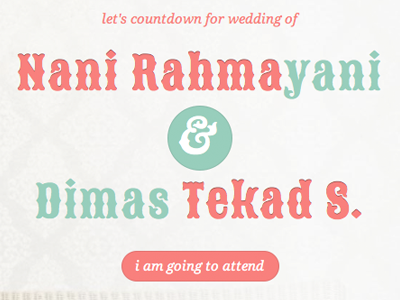 dimas & yani - wedding invitation website