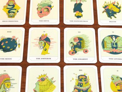 Tarot Cards creepy spooky illustration cards characters tarot card tarot