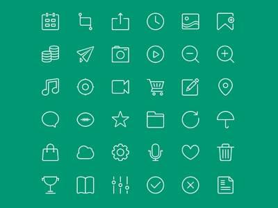 Free 48px icons PSD 36 icons psd