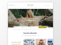 Luxury Travel Home travelling travel agency white search travel app home page luxury design minimal luxury travel