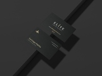 Brand Identity Card black minimal elegant luxury businesscard logo ux idenity brand