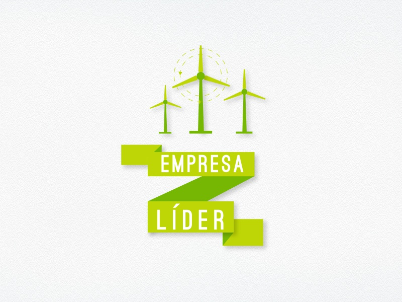 Empresa Líder empresa business enterprise sustainable green energy environmental friendly flat icon