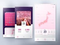 UI Challenge - Sakura Tracker