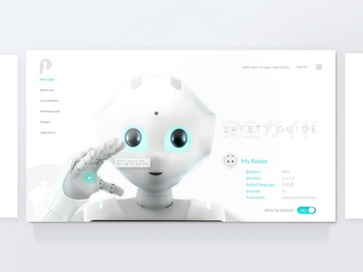 UI Challenge  - Pepper Guide Home for Fun