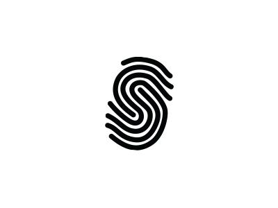 "Thumbprint ""S"" thumbprintdesign minimaldesign logo designidea squarespace stripylogo loop interlock woodcraftlogo s thumbprint"
