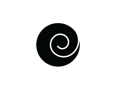 e Spiral logotype simple monochrome adobeillustrator growth educationlogo minimallogo minimaldesign spiral logodesign e