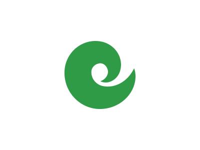 "Spiral ""e"" logo concept III swirly growth simple bubblefont fatfont hippy 60s adobeillustrator goldenratio spiral logo e"