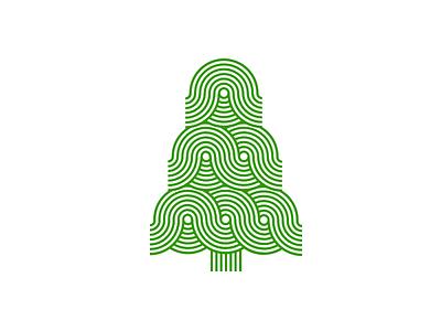 Xmas tree design tree green artmemos christmascard graphic design xmas swirly stripy christmastree christmas xmastree