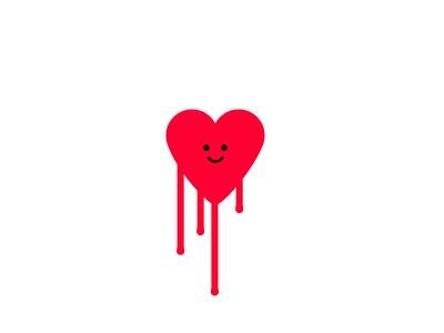 Bleeding heart happyheart smileyheart smiley graphicdesign cuteheart redheart drippy cute love loveheart bleedingheart heart