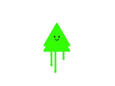 Happy tree cutedesign xmasdesign green minimal cutetree cute christmastree christmas xmas xmastree drippy tree