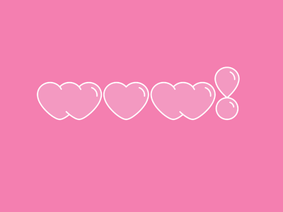 Wow! (bubble pink) pop bright fresh bubbletype 80s retro bubblefont heart bubble pink wow! wow